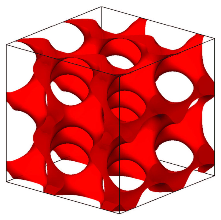 model of a gyroidal superconductor