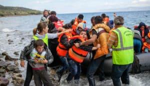migrants arrive in Kos