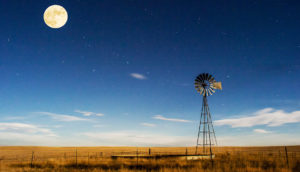 moon over a prairie