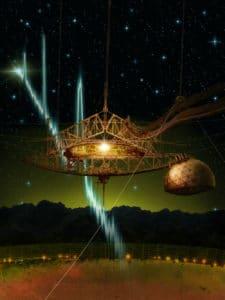 artist's impression of the Arecibo telescope