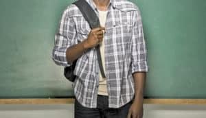 black male student