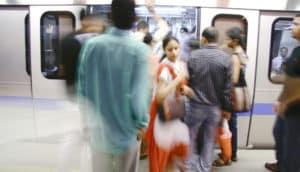New Delhi subway