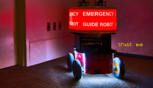 emergency guide robot
