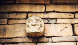 Chavín de Huántar stone head