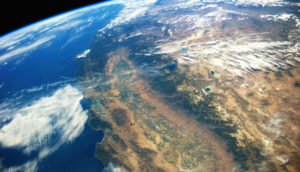 ISS image of California
