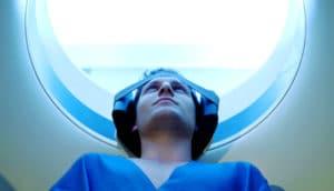 Man in MRI machine