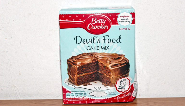 box of cake mix