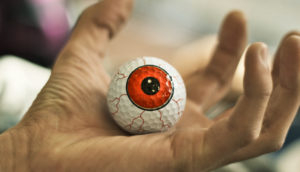 eyeball in hand