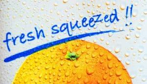 orange juice sign