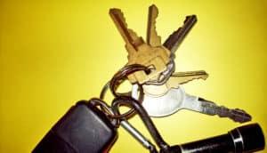 car keys on yellow