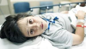 boy in the hospital