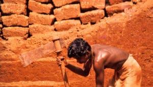 laterite brick quarry