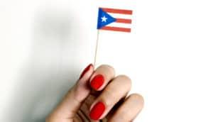 tiny puerto rican flag