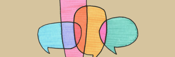 overlapping speech bubbles