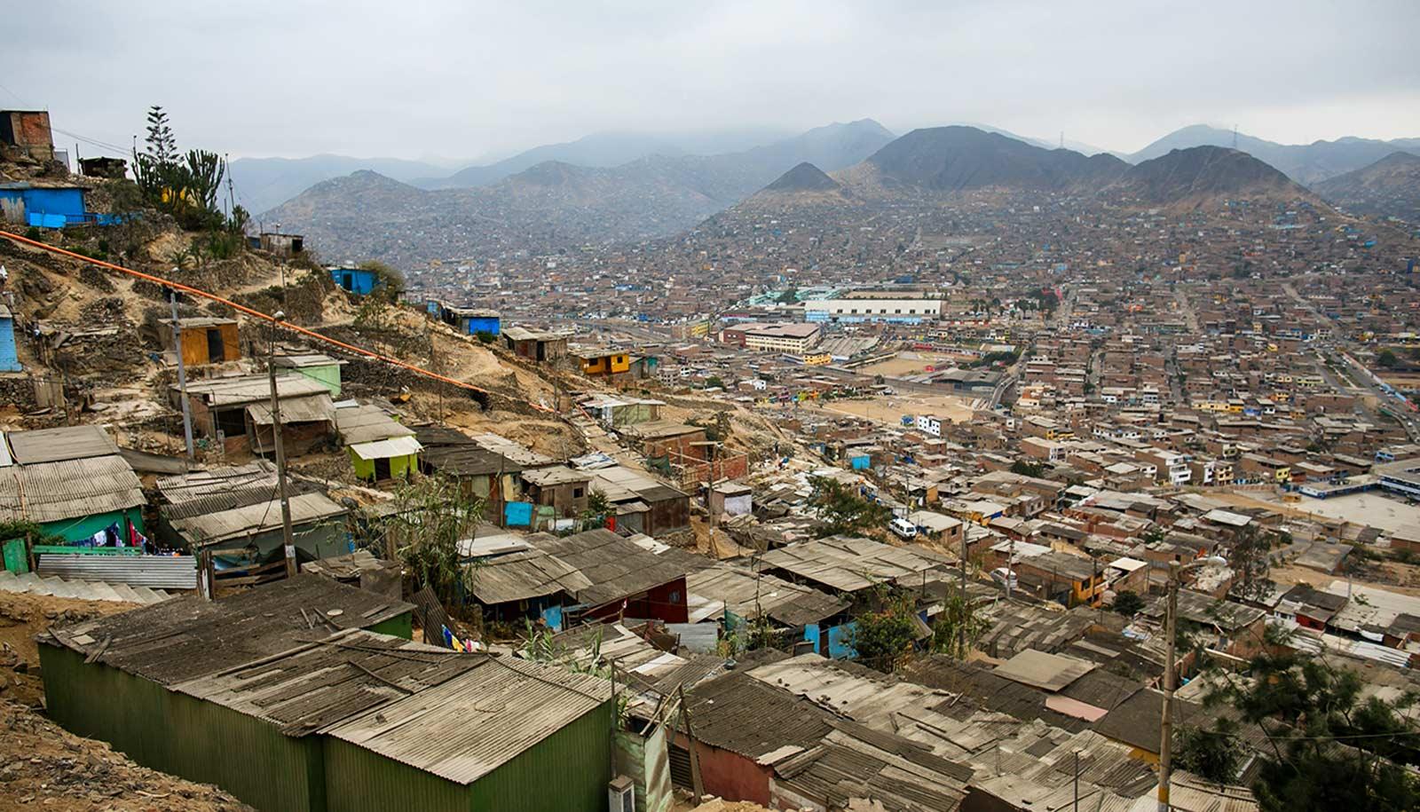 slum outside Lima, Peru