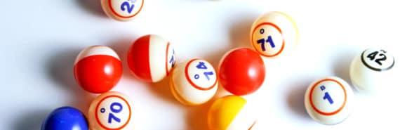 bingo balls on white