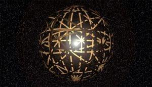 illustration of a Dyson swarm