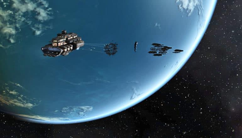 Eve online spaceships & planet