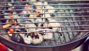 grill with charcoal