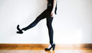 woman in black heels