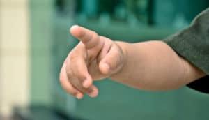 toddler pointing