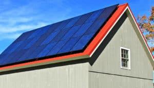 solar panels on new england barn