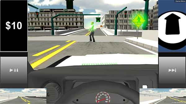driving simulation screenshot