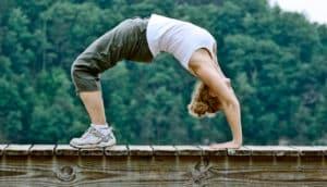 backward yoga pose