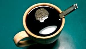 spoon in mug of coffee