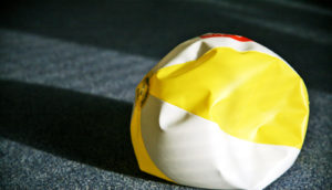 deflated beach ball