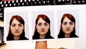 series of passport photos