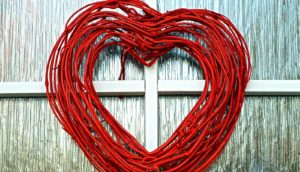 heart made of vines