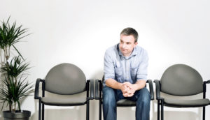 man in waiting room - prostate cancer
