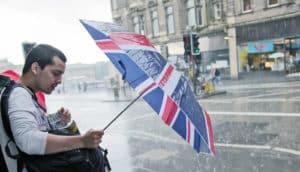 UK man with umbrella