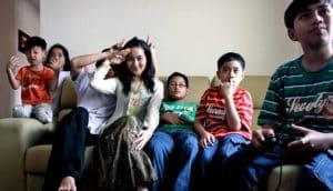 muslim family on eid al fitr