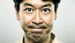 man with self-control face
