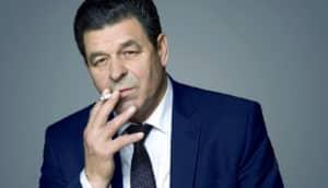 older man smoking