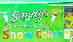 new orleans style sno cone vendor