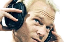 sting uses headphones