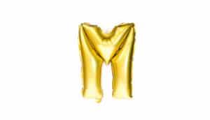 balloon letter M