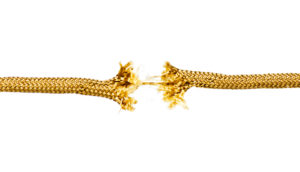 fraying golden rope