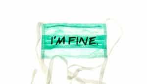 """doctor mask """"I'm fine"""""""