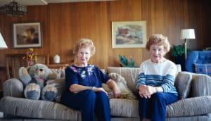 elderly twin sisters
