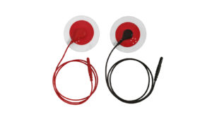 red and black electrodes for stress test