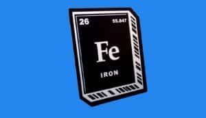 iron sticker on blue