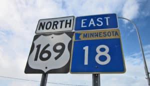 Minnesota highway sign