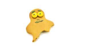 sad broken cookie on white