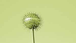 virus shape on a pole