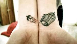 freedom wrist tattoos