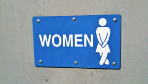 women's bathroom - incontinence